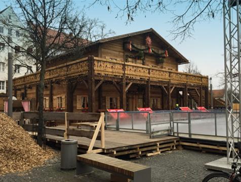 Aufbauvariante 10x10m Hütte als Doppelstock